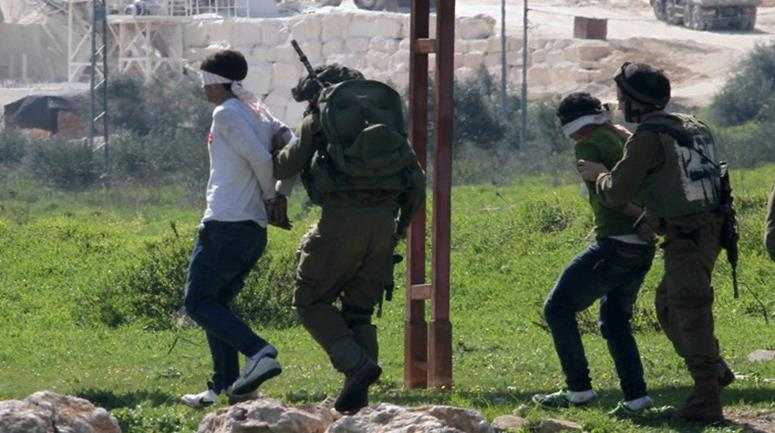 Israeli occupation forces detain eight Palestinians from the occupied territories